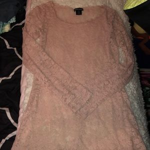 Tops - Pink lace long sleeve top